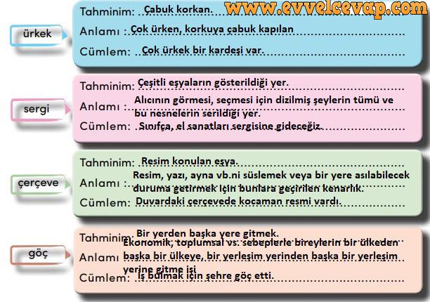 4. Sınıf Türkçe Ders Kitabı Meb Yayınları Sayfa 253 Cevabı