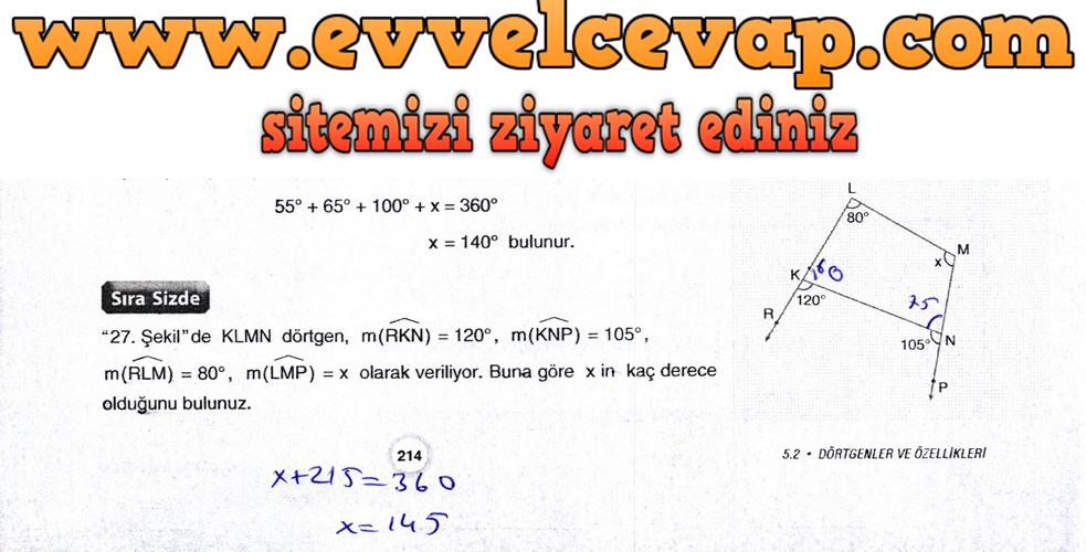 10. Sınıf Aydın Yayıncılık Matematik Ders Kitabı Sayfa 280 Cevabı