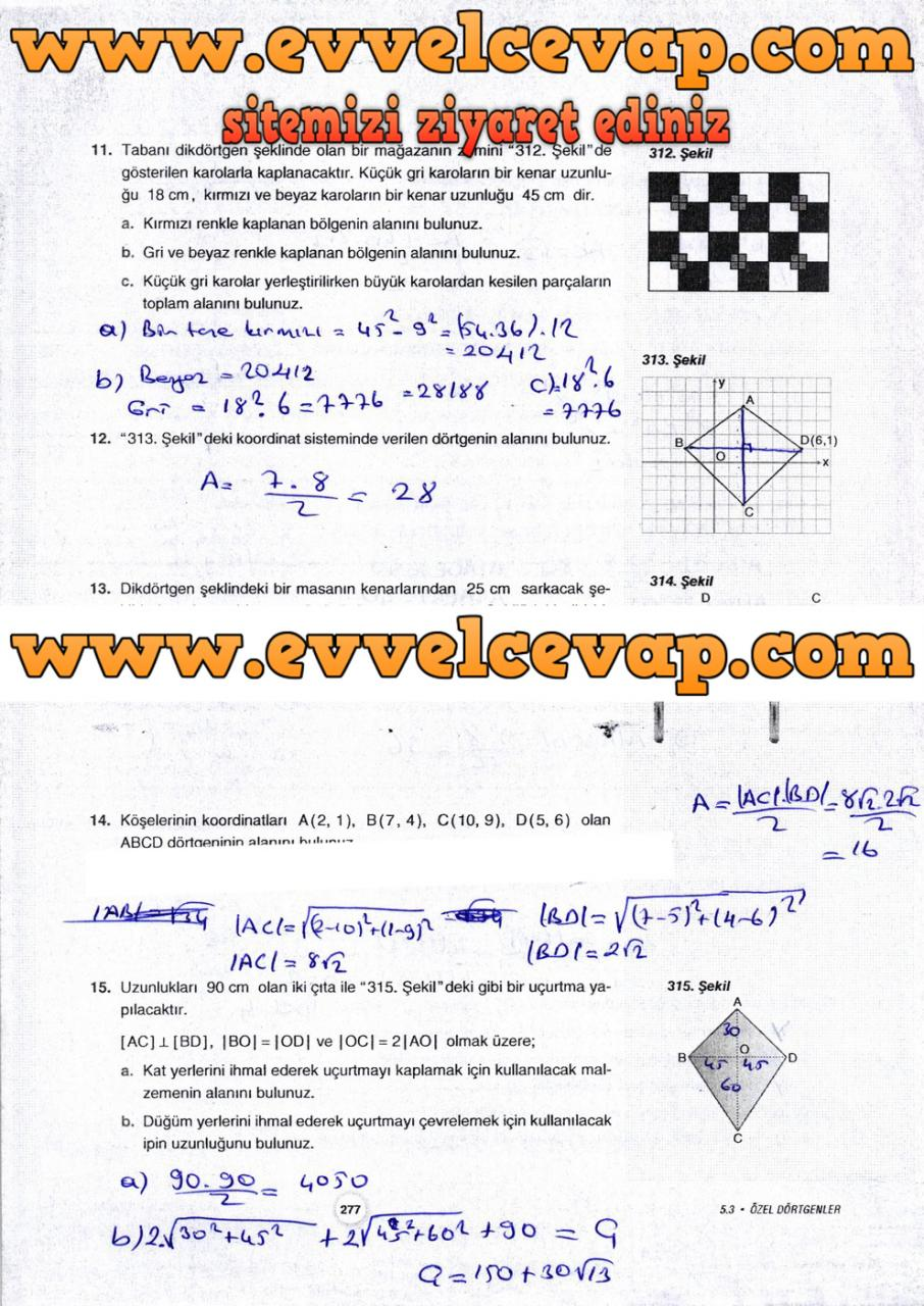 10. Sınıf Aydın Yayıncılık Matematik Ders Kitabı Sayfa 277 Cevabı