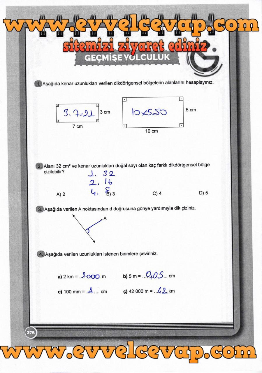 6. Sınıf Matematik Ders Kitabı Meb Yayınları Sayfa 276 Cevabı 2018-2019
