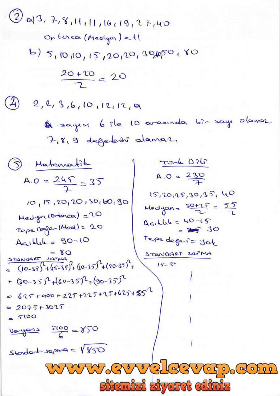 9. Sınıf Ödev Yayınları Matematik Ders Kitabı Sayfa 363