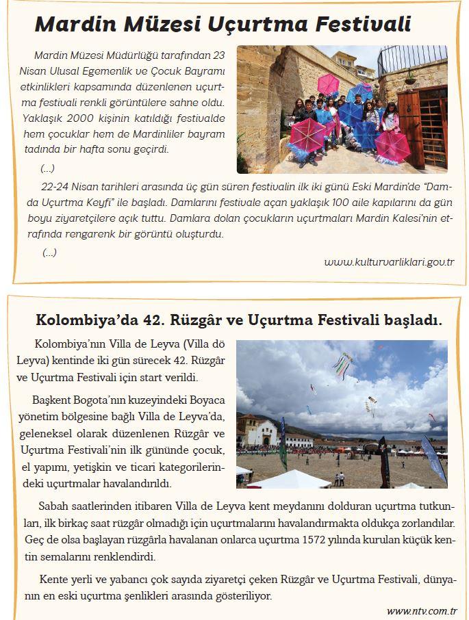 6. Sınıf Türkçe Ders Kitabı Ekoyay Yayınları Sayfa 77 Cevabı