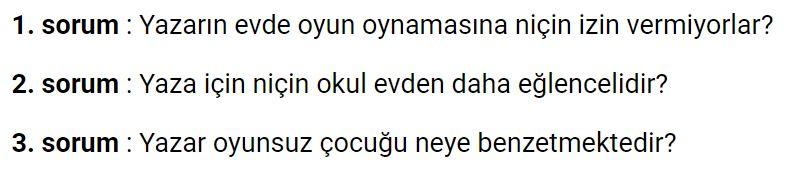 6. Sınıf Türkçe Ders Kitabı Ekoyay Yayınları Sayfa 87 Cevabı