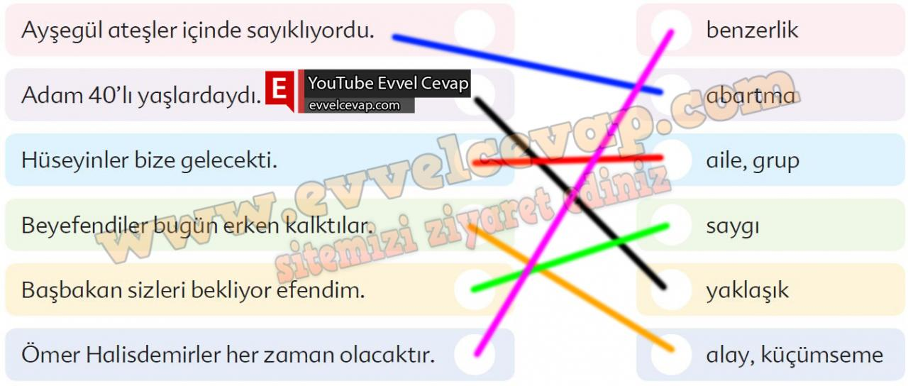 6. Sınıf Türkçe Ders Kitabı Ekoyay Yayınları Sayfa 89 Cevabı
