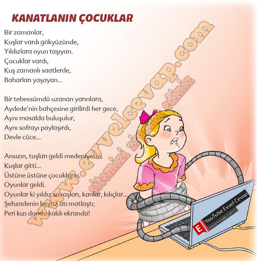 6. Sınıf Türkçe Ders Kitabı Ekoyay Yayınları Sayfa 91 Cevabı